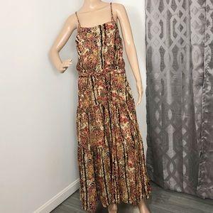 Free people floral print sleeveless maxi dress